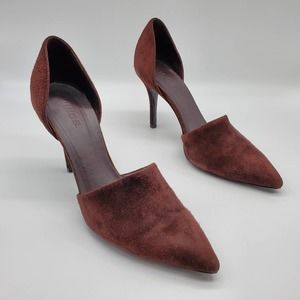 Vince Claire Brown Suede D'Orsay Heels 8M